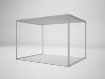 3D, das weißen modernen Geschäftsausstellungsstand überträgt, Illustration, Stockfotos