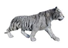 3D, das weißen Tiger auf Weiß überträgt lizenzfreies stockfoto