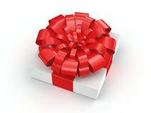 3D, das weiße Geschenkbox überträgt Lizenzfreie Stockfotos