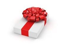 3D, das weiße Geschenkbox überträgt Stockfotografie