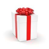 3D, das weiße Geschenkbox überträgt Stockbild