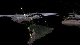 3D, das Zusammenfassung des Weltnetzes, des Internets und des globalen Verbindungskonzeptes überträgt Elemente dieses Bildes geli Stockbild
