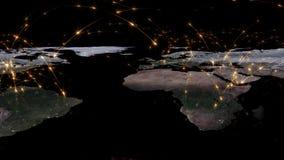 3D, das Zusammenfassung des Weltnetzes, des Internets und des globalen Verbindungskonzeptes überträgt Elemente dieses Bildes geli Lizenzfreie Stockfotografie