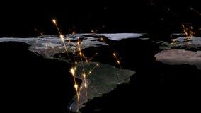 3D, das Zusammenfassung des Weltnetzes, des Internets und des globalen Verbindungskonzeptes überträgt Elemente dieses Bildes geli Stockfotos