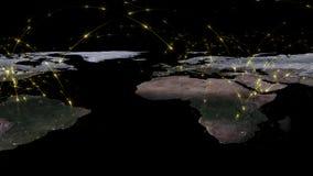 3D, das Zusammenfassung des Weltnetzes, des Internets und des globalen Verbindungskonzeptes überträgt Elemente dieses Bildes geli Lizenzfreie Stockfotos