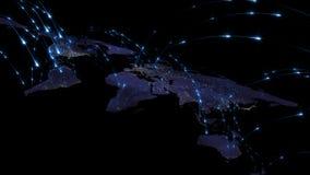 3D, das Zusammenfassung des Weltnetzes, des Internets und des globalen Verbindungskonzeptes überträgt Elemente dieses Bildes geli Lizenzfreies Stockfoto