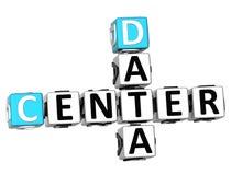 3D Data Center Crossword. On white background Stock Photos