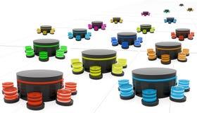 3D data center vector illustration