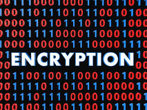 3d data encryption concept with binary code Royalty Free Stock Photos