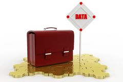 3d  data leather bag Royalty Free Stock Photos