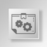 3D Data tablet gears icon Business Concept Royalty Free Stock Image