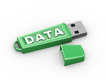 3d data text word usb flash drive Stock Photography