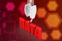 3d data uploading illustration Royalty Free Stock Image