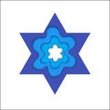 3d David ilustraci gwiazda Magen David, wektorowy religijny symbol royalty ilustracja