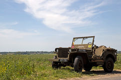 D-Day allied Jeep Stock Photos