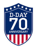 D-Day Anniversary badge. American badge for the D-DAY 70th anniversary, june 6th Stock Photos