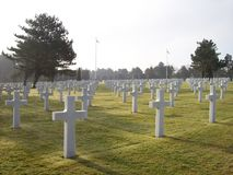 D-day Cemetery Royalty Free Stock Photo