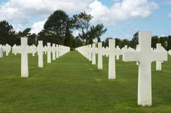 D-day graves Stock Image