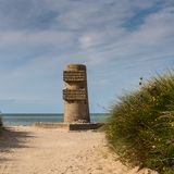 Juno Beach Memorial. The D-Day landing area code-named Juno Beach was approximately 10 km 6 miles wide and stretched on either side of the small fishing port of stock photo