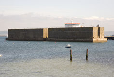 D-Day Mulberry Harbour Stock Photography