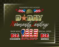 D-Day, sales and commercial events vector illustration