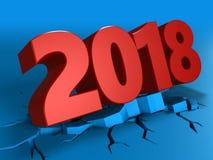 3d de 2018 Años Nuevos stock de ilustración