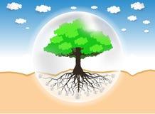 D?a de ambiente de mundo ilustración del vector