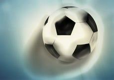 3d de bal van het voetbalvoetbal geeft achtergrond terug Stock Afbeelding