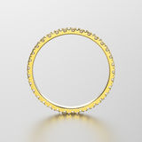 3D de bandring van de illustratie gele gouden eeuwigheid met diamant met stock illustratie