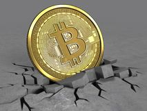 3d de bitcoin Image libre de droits