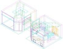 3D plan Stock Afbeelding