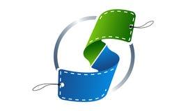 3d de brievens Embleem van het Cirkeletiket Royalty-vrije Stock Foto
