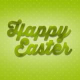 3D de charme remettent à inscription Joyeuses Pâques d'herbe Photographie stock