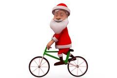 3d de cyclusconcept van de Kerstman Royalty-vrije Stock Afbeeldingen