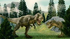 3D de dinosaurus geeft terug vector illustratie