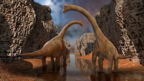 3D de dinosaurus geeft terug Stock Afbeelding