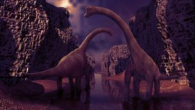 3D de dinosaurus geeft terug Stock Foto's