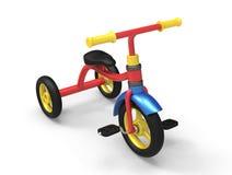 3D de driewieler van een kind Stock Foto