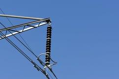 3D de elektriciteit van de hoogspanning Royalty-vrije Stock Afbeeldingen