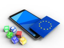 3d de EU-vlag Royalty-vrije Stock Foto