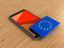 3d de EU-vlag Royalty-vrije Stock Foto's