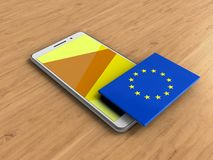 3d de EU-vlag Royalty-vrije Stock Fotografie