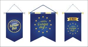 D?a de Europa D?a festivo anual en mayo stock de ilustración