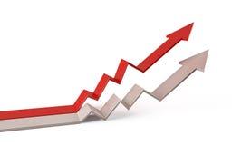3d de grafiek van de pijlgrafiek Royalty-vrije Stock Afbeelding