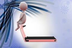 3d de gymnastiekillustratie van het mensenhuis Royalty-vrije Stock Foto