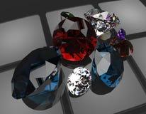 3d de halfedelstenen geven terug Royalty-vrije Stock Afbeelding