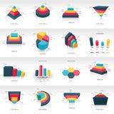 3d de informatie grafisch malplaatje van het grafiekontwerp Royalty-vrije Stock Afbeeldingen