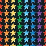 3d de kleuren naadloos patroon van de sterregenboog royalty-vrije illustratie