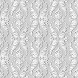 3D de Krommegolf Dwarsdot line leaf flower van de Witboekkunst Royalty-vrije Stock Afbeeldingen