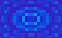 3d de kubus drijft eenvoudige symmetrieachtergrond uit, stock illustratie